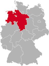 deutschlandkarte niedersachsen Kfz Serviceleistungen in Niedersachsen   direkt zur richtigen Adresse